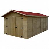 Garage panneaux 16mm dimension ext hors tout 3 x 5.20 x h 2.26m