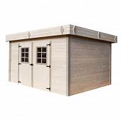 Abri madriers bois massif 28 mm surface extérieure 16.77 m2