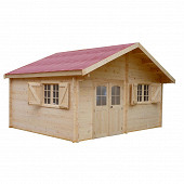 Abri madriers bois massif 42 mm surface exterieure 24.96 m2