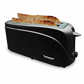 Techwood grille pain longues fentes noir TGP-506