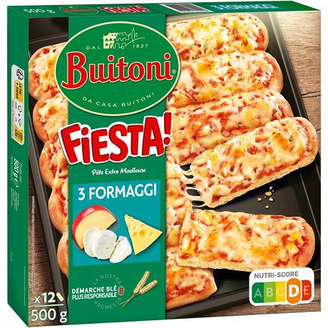 BUITONI FIESTA pizza surgelée 3 Formaggi 500g