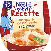 Nestlé p'tite recette blanquette de riz dinde dès 12 mois 2x200g