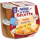 Nestlé p'tite recette paella dès 12 mois 2x200g