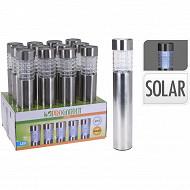 Borne solaire inox/verre diam 6x h46cm