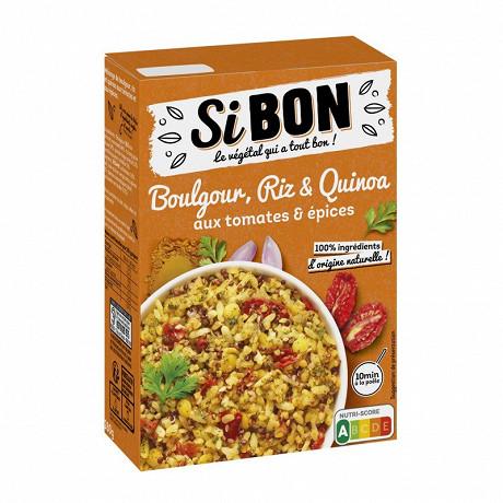 Si bon boulgour, riz & quinoa aux tomates & épices 280g