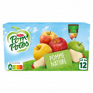 Pom'Potes allégées pommes nature 12x90g
