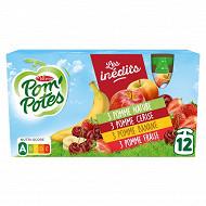 Pom'potes multivarietes rouges 12x90g (3pommes cerises + 3 pommes bananes+3 p