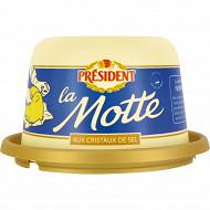 Président beurre gastronomique motte grain de sel de mer 250g