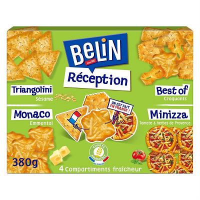 Belin Belin crackers assortiment réception lot apéritif 380g
