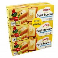 Cora petit beurre tablette chocolat blanc 6x150g offre spéciale