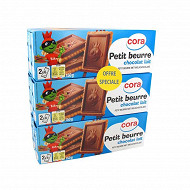 Cora petit beurre tablette chocolat lait lot 6x150g