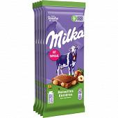 Milka lait aux noisettes entières 5x100g