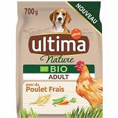 Ultima nature croquettes chien bio adulte poulet 700g