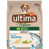 Ultima nature croquettes chien bio adulte saumon 700g