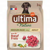 Ultima nature croquettes chien medium maxi boeuf -3kg