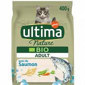 Ultima nature croquettes chat bio adulte saumon 400g