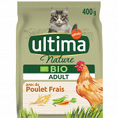 Ultima nature croquettes chat bio adulte poulet 400g