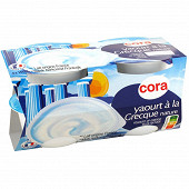 Cora yaourt brassé nature à la grecque 4x150g