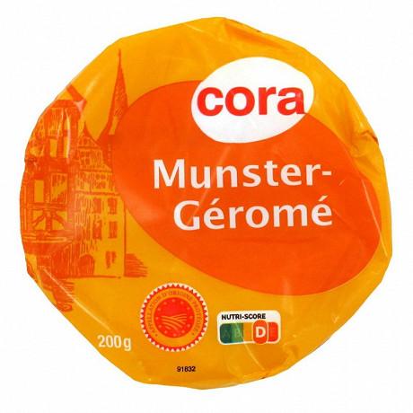 Cora petit Munster Géromé pasteurisé AOP 28%mg 200g