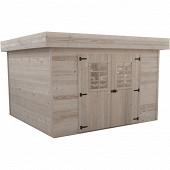 Abri madriers bois massif 28 mm surface extérieure 11.36 m2