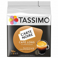Tassimo carte noire café dosettes café long classique x16 104g