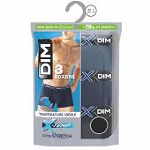 Lot de 3 boxers ligne X-Temp Dim BLEU ECLIPSE/BLEU DENIM/NOIR T2