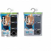 Lot de 3 boxers ligne X-Temp Dim BLEU ECLIPSE/BLEU DENIM/NOIR T4