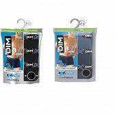 Lot de 3 boxers ligne X-Temp Dim BLEU ECLIPSE/BLEU DENIM/NOIR T3