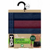 Lot de 3 boxers ligne ecosmart Bio Dim BLEU DENIM/ROUGE VIN/BLEU D T6