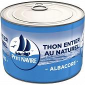 Petit Navire thon naturel démarche responsable 280g