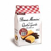 Bonne Maman le petit quatre quarts chocolat noir 10+2 offerts 300g