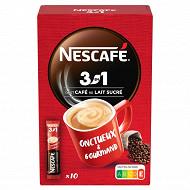 Nescafé 3 en 1 - Café soluble au lait sucré - 10 sticks - 165g
