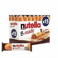 Nutella b-ready t15 etui de 15 piéces 330g