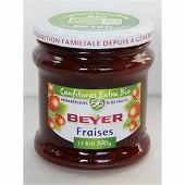 Beyer confiture bio extra fraises 370g