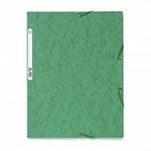 Exacompta chemise élastique 3 rabats carte lustrée vert