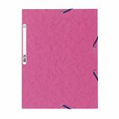 Exacompta chemise à élastiques 3 rabats carte lustrée rose fushia