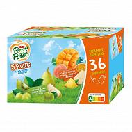 Pompotes 5 fruits verts et 5 fruits exotiques 36x90g