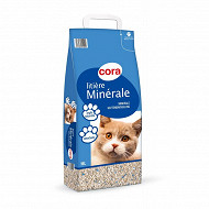 Cora litière minérale hygiènique  pour chat 16l
