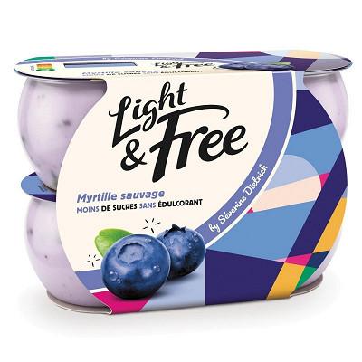 Light & Free Light & free myrtille 4x120g