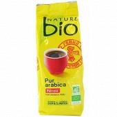 Nature bio café moulu pur arabica pérou 250g
