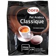 Cora café 36 dosettes arabica classique 250g