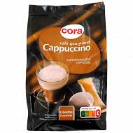 Cora café gourmand 8 dosettes cappuccino 168 g