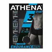 Lot de 3 boxers Endurance Athena 2020 MARINE/GRIS/MARINE T7