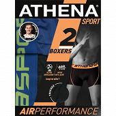 Lot de 2 boxers Air performance Athena 2010 NOIR/BLEU C BLEUE T7