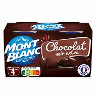 Mont Blanc chocolat extra noir 4x125g