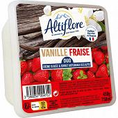 Altiflore bac crème glacée artisanale vanille fraise 750ml - 450g