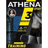 Lot de 3 boxers Training Athena 2030 MARINE/BLEU/MARINE T7