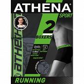 Lot de 2 boxers Running Athena 2010/2015 LOSANGE/NOIR T6