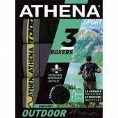 Lot de 3 boxers Outdoor Athena 2100 N/GRI/N/C.CHIN JAUNE T3