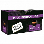 Carte Noire capsules espresso puissance n°8 type nespresso x30 159g